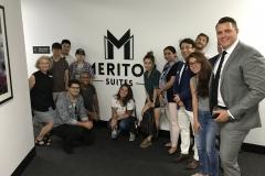 Hero Meriton and the students