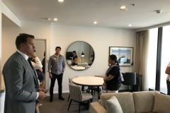 Students inspect the Meriton project